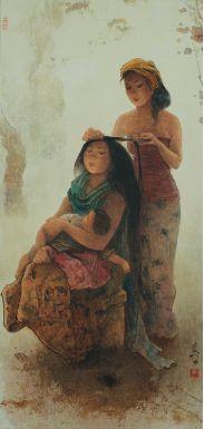 Lee Man Fong - Combing Hair