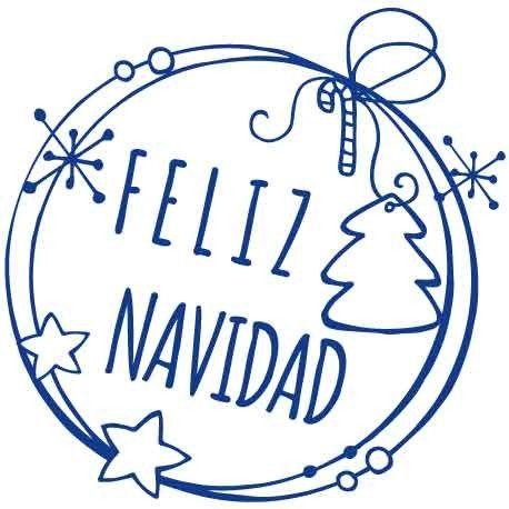 """vinilos navidad   Vinilo para la Navidad con texto """"Feliz Navidad"""" y decoración ..."""