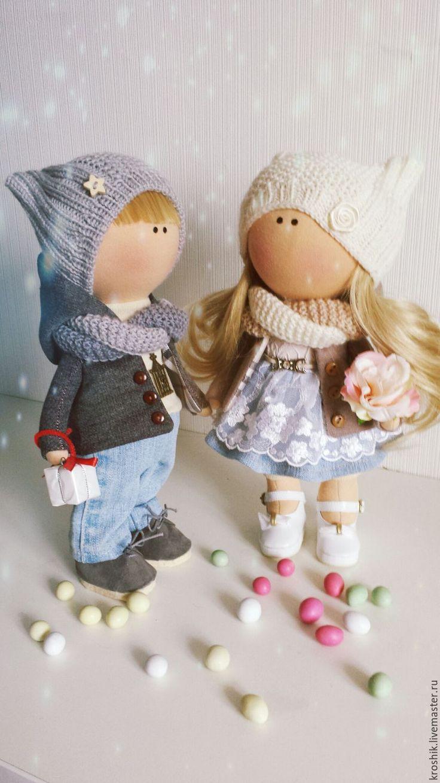 Купить интерьерная кукла парочка - интерьерная кукла, интерьерная игрушка, текстильная кукла, парочка, куколка