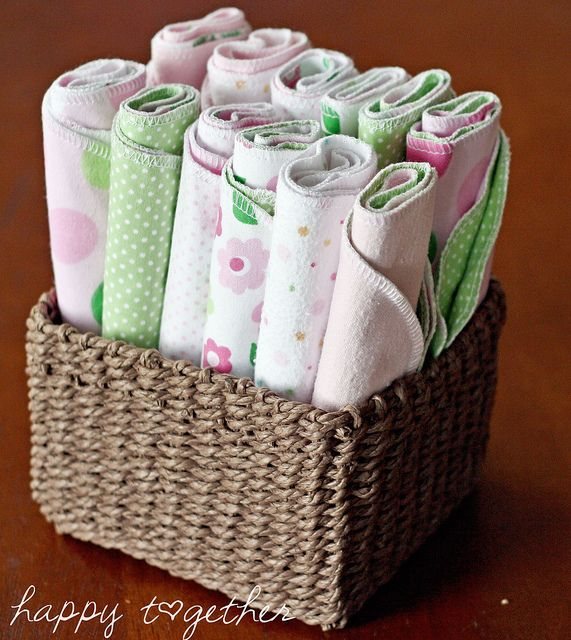 My stash of burp cloths by ohsohappytogether, via Flickr