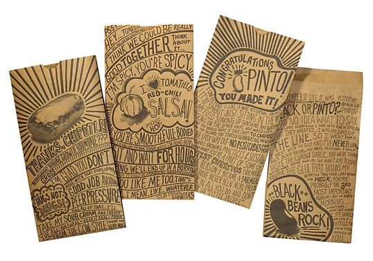 id chipotle1: Graphic Design, Food Packaging, Ideas, Inspiration, Package Design, Chipotle Mexican Grill, Packaging Design, Typography