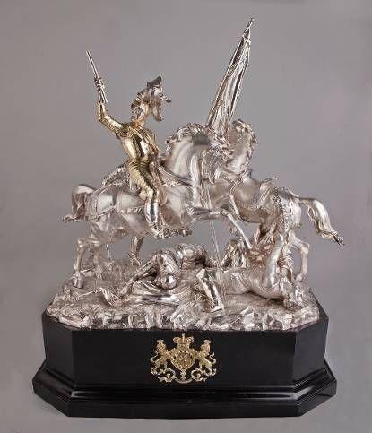 Zilveren tafelstuk van de Slag bij Nieuwpoort