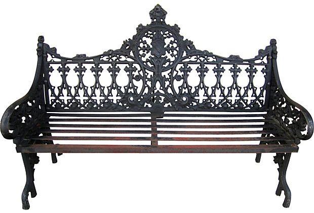 Victorian Cast-Iron Garden Bench on OneKingsLane.com