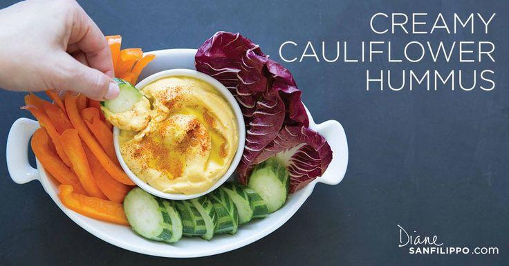 Creamy Cauliflower HummusRecipe from Practical Paleo 2nd Edition grain-free • gluten-free • egg-free• dairy-free PREP TIME: 15…