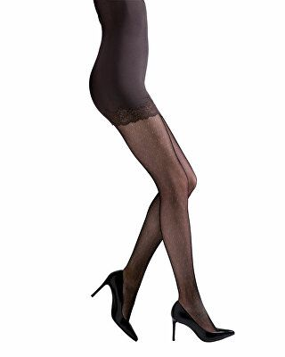 d3ff1f9ec Natori Designer Bristles Lace Sheer Floral-Pattern Control-Top Tights