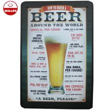 [ Mike86 ] bière Around the World signes Tin Vintage House Cafe Restaurant Beer affiche Metal Craft ART peinture 20 * 30 CM A-46(China (Mainland))