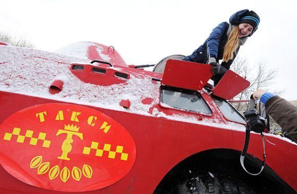 Taksi Btr 40 Di Rusia Amfibi Kendaraan Rusia
