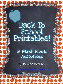 BACK TO SCHOOL...already?! Here are 3 First week activities that are ideal for a 1st-3rd grade classroom.