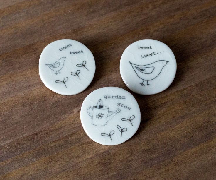 Boop Design - Large Round Brooches, Handmade porcelain www.boopdesign.com