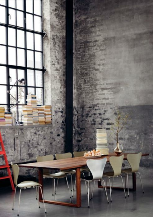 warehouse conversion dining space