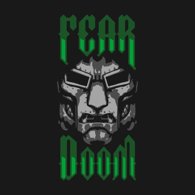 """""""Fear Doom"""" Check out this awesome #marvel #drdoom t-shirt design! Buy it now from Teepublic here @ http://buff.ly/1BiDemk That's SO Geekin' Awesome! http://www.sogeekinawesome.com"""