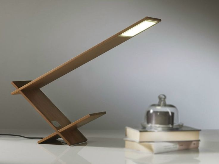 OLED wooden table lamp K BLADE by Riva 1920 | design Maurizio Riva, Davide Riva