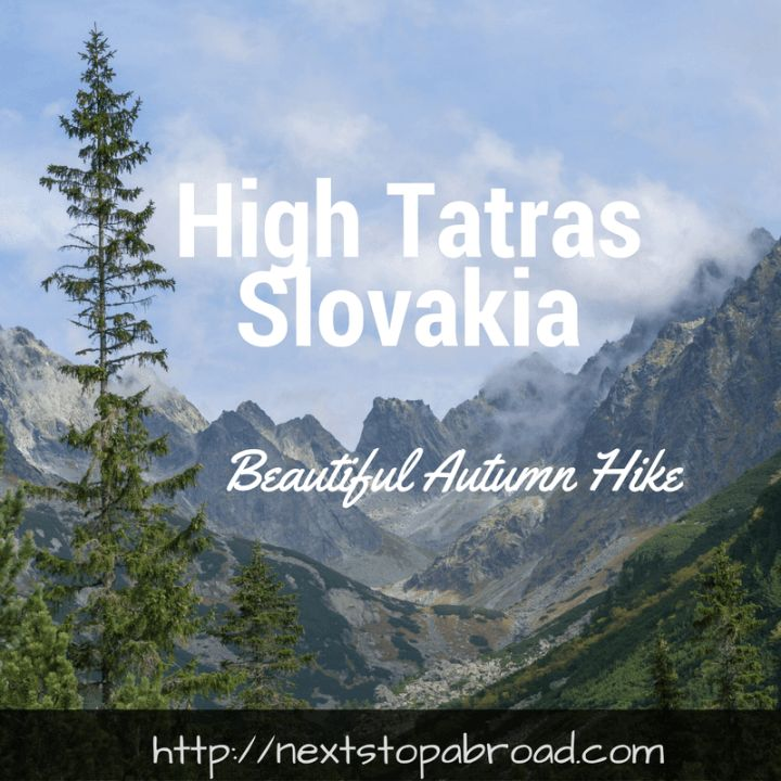 autumn hike in High Tatras, Slovakia