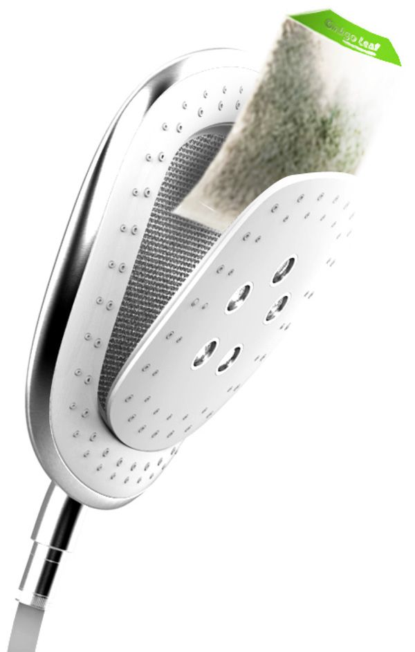 Herbal Infusion Shower Head...I would love to put some tea tree oil, eucalyptus oil, peppermint oil, & some lavender in there to open up my sinuses and make it so soothing & relaxing!....interesting....