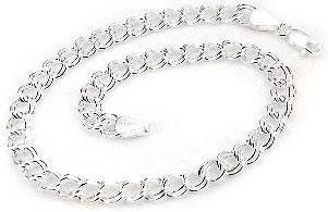 """5mm Small Sterling Silver 6"""" Double Link Chain Charm Bracelet Silver Insanity. $24.98. Sterling Silver Double Link Charm Bracelet. Marked .925 and Italy. Closes with a Lobster Claw Clasp. 6"""" Long and 5mm Wide. Weight is Approximately 4.5 Grams"""