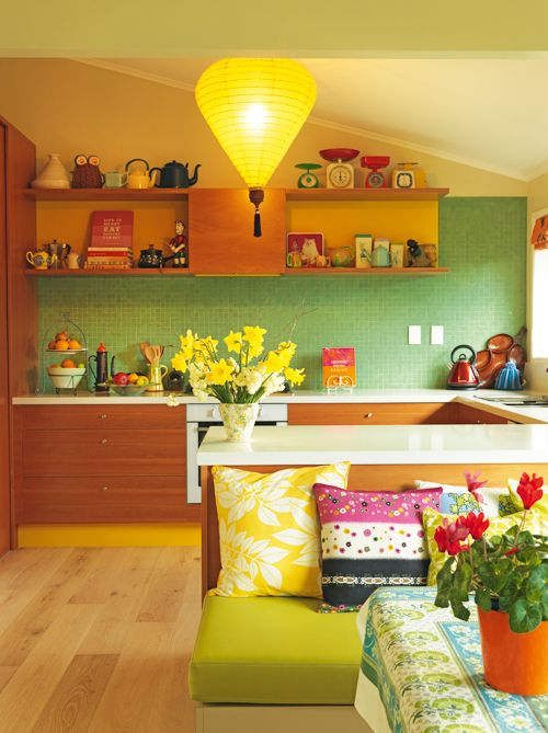 Highly Commended Kitchen by Fiona Jeffcoat Photo by Jane Ussher — at James, Parnell.