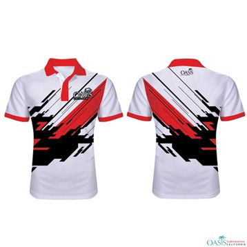 Sublimated printing polo shirt_OKU Sportswear Co., Ltd.