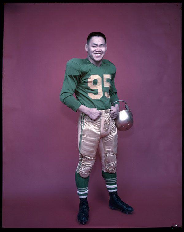 Normie Kwong of the Edmonton Eskimos football team. (item 1)