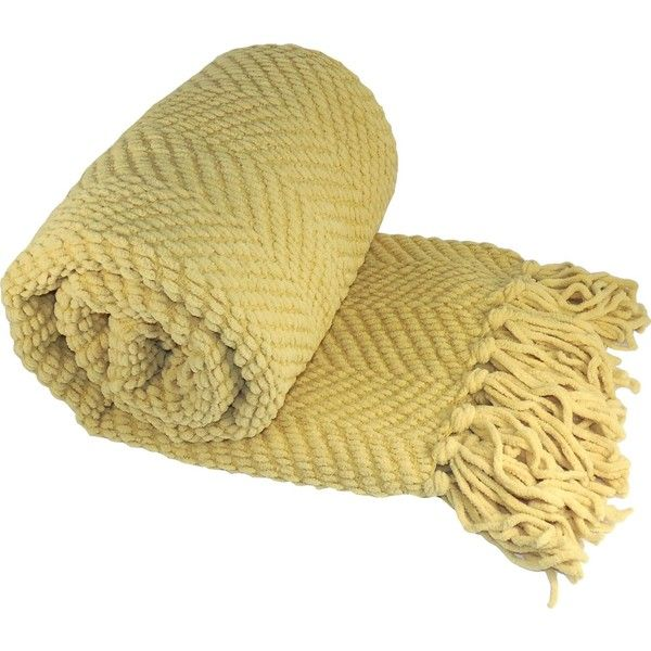 Sofa Cover BOON Knitted Tweed Throw Couch Cover Blanket x Jo Joba Yellow