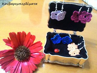 Flower earrings...in more colors! YOU MAY ALSO LIKE
