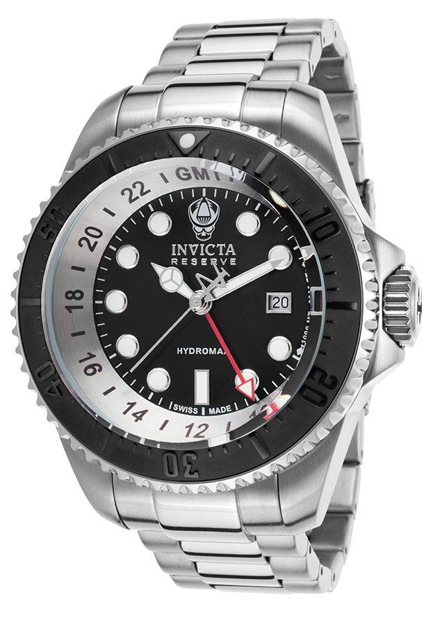 Invicta Men's Hydromax Pro Diver Reserve GMT SS Black Dial