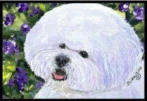 Bichon Frise Indoor / Outdoor Floor MAT 18 X 27 Inches by Caroline's Treasures. $26.99. INDOOR / OUTDOOR FLOOR MAT This is available in either 18 inch by 27 inch Action Back Felt Floor Mat / Carpet / Rug that is Made and Printed in the USA. A Black binding tape is sewn around the mat for durability and to nicely frame the artwork. The mat has been permenantly dyed for moderate traffic and can be placed inside or out (only under a covered space). Durable and fade resistant. The b...