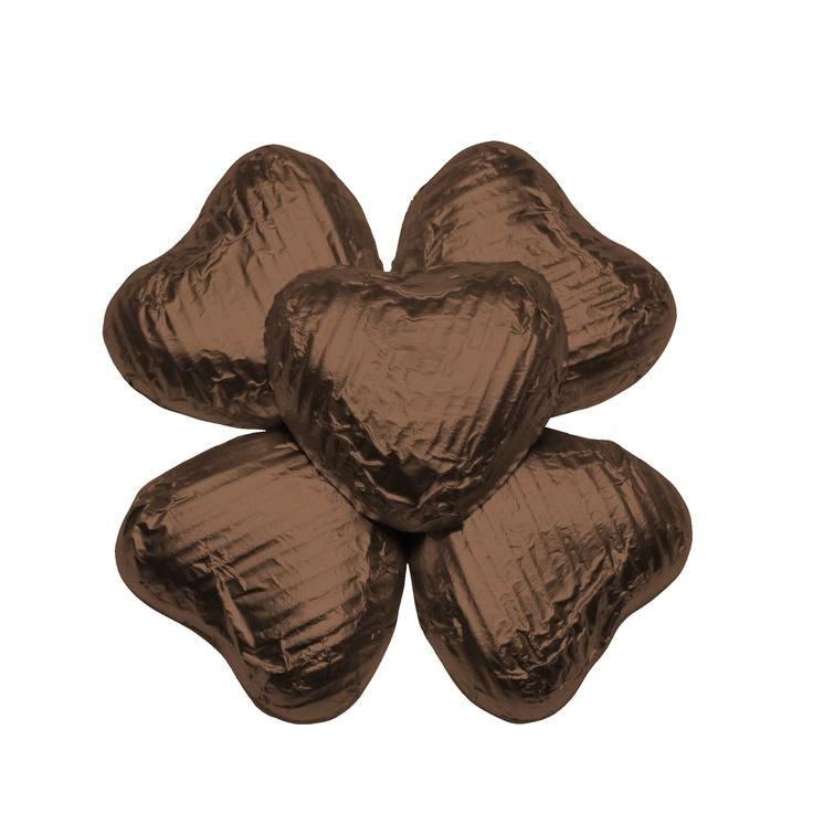 100 Chocolate Hearts, Brown, £20.95