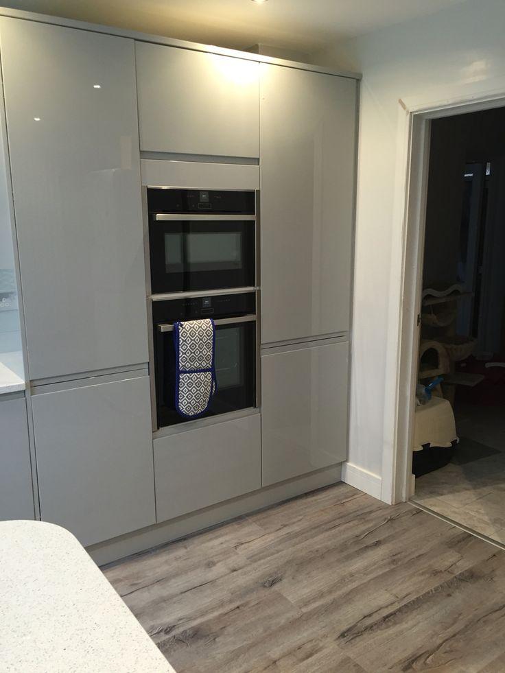 Benchmarx kitchen larder units and Neff appliances.