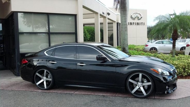 Infiniti M37s with Vossen CV3's - Sexy Car :) time to trade the old model for the new model!!! ;)