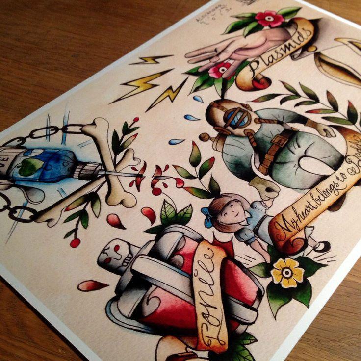1000 images about tattoos on pinterest bioshock tattoo bioshock and bioshock infinite. Black Bedroom Furniture Sets. Home Design Ideas