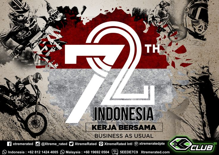 Happy National Day 72th Independence Day of Indonesia XCLUB Indonesia business as usual on 17th August 2017  #xtremerated #xclub #IndependenceDay #Indonesia