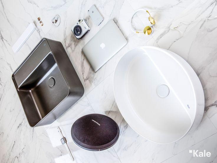 Antibakteriyel ve kolay temizlenen Kaleguard yüzey koruması ile Smartedge Serisi lavabolar. #akıllı #tasarım #teknoloji #smart