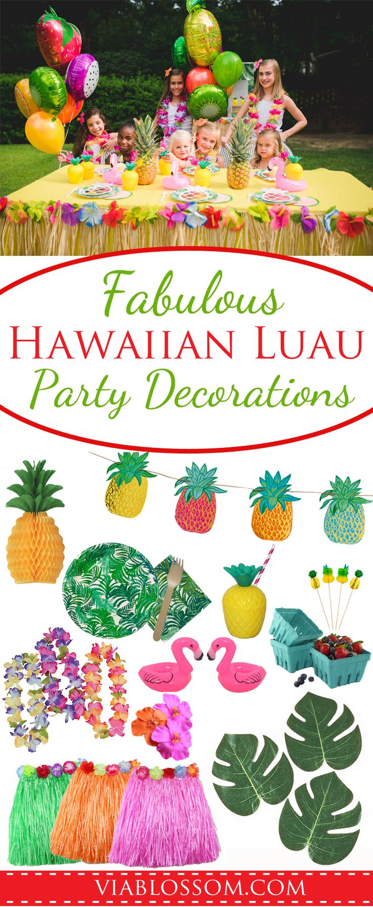 Fabulous Hawaiian Luau Party Decorations and ideas for the best Summer Party ever or a Moana Party!