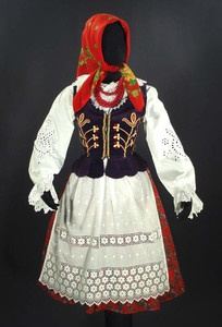 Polish Folk Costume Zywiec Goral Ethnic Dress Poland Embroidered Blouse Vest   eBay