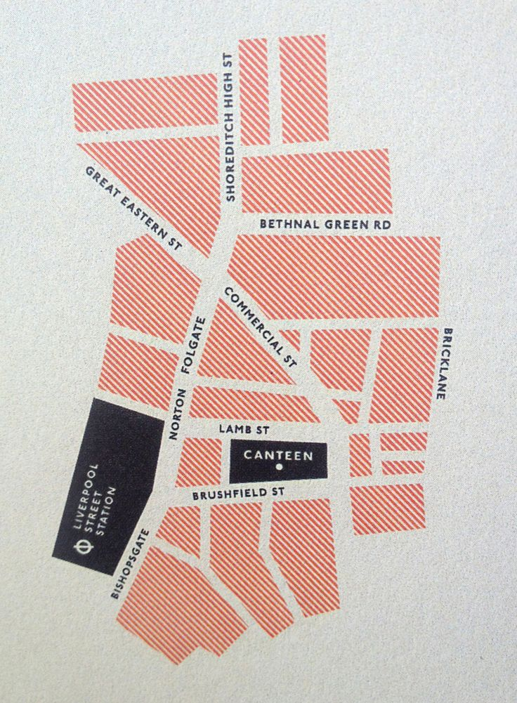Nice little map for Canteen, London