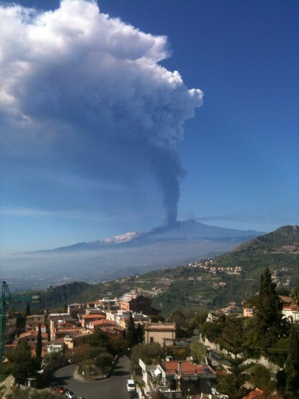 I've been to Taormina 3 times and never seen an eruption...but look at Etna now!