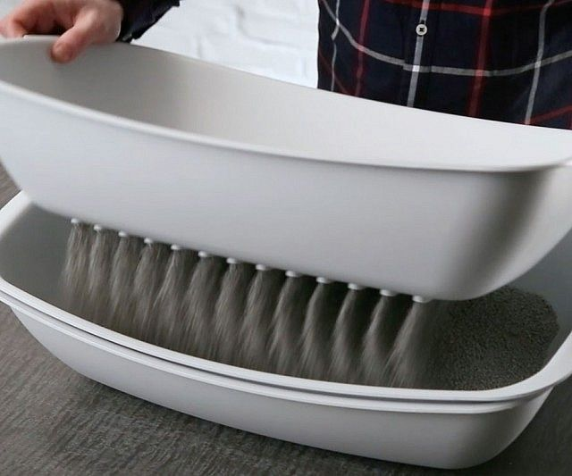 """The Best Cat Litter Box Ever Made."" I'd love one of these, and I bet Mom would too. Three stackable trays so you just lift the top one, sift it, dump it, and replace it on the bottom. So easy!"