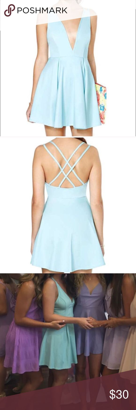 NASTY GAL skater dress Light blue skater dress, worn once! Fits more like a small in my opinion Nasty Gal Dresses Mini