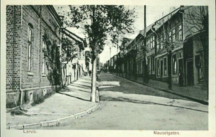 Vestfold fylke Larvik Nansetgaten tidlig 1900-tall