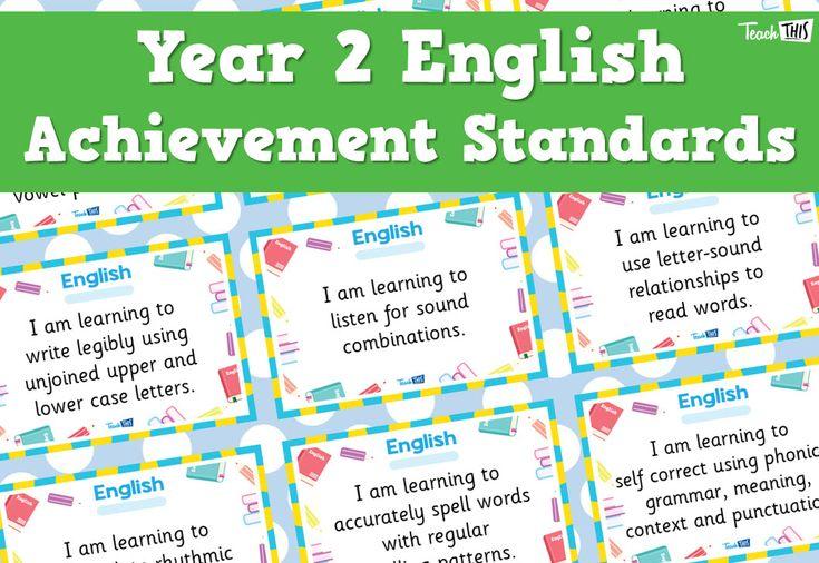English Achievement Standards - Yr2
