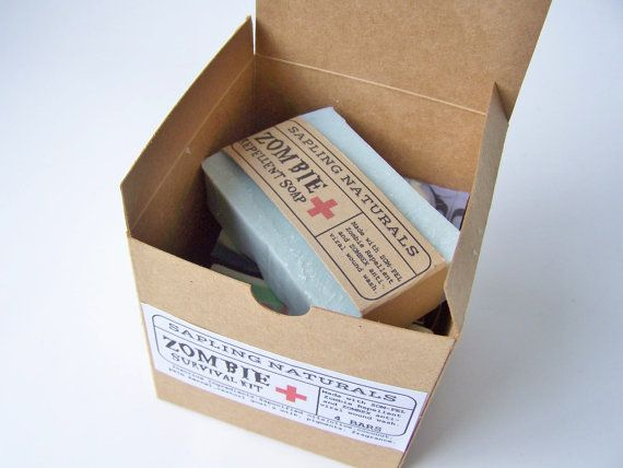 Zombie Survival Kit -choose your own scents- great gift for men, nerds, survivalists on Etsy, $18.00