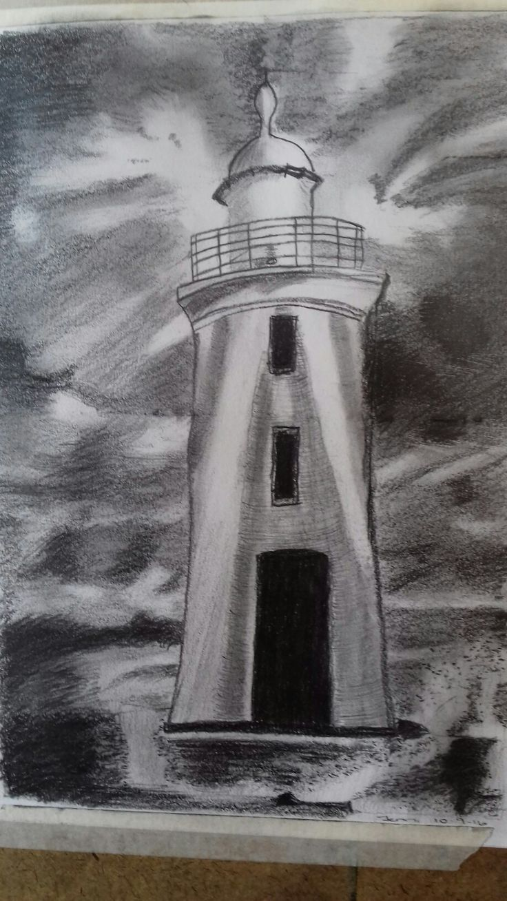Lighthouse in pencil
