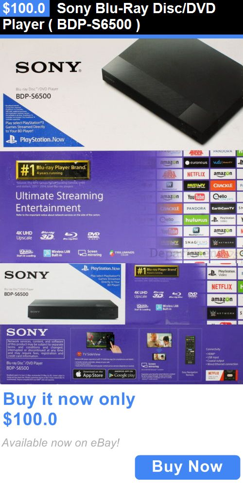 DVD and Blu-ray Players: Sony Blu-Ray Disc/Dvd Player ( Bdp-S6500 ) BUY IT NOW ONLY: $100.0