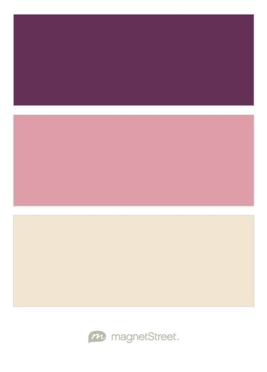 Eggplant, Blush, and Champagne Wedding Color Palette - custom color palette created at MagnetStreet.com