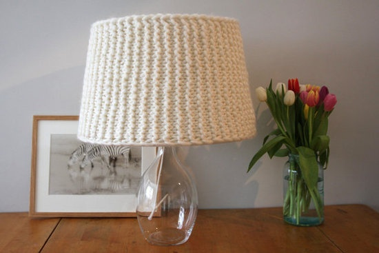 knit your own lampshade: Photos Galleries, Lamps Shades, Knits Patterns, Knits Lampshades, Garter Stitches, Lamp Shades, Kitchens Photos, Diy Projects, Weekend Diy