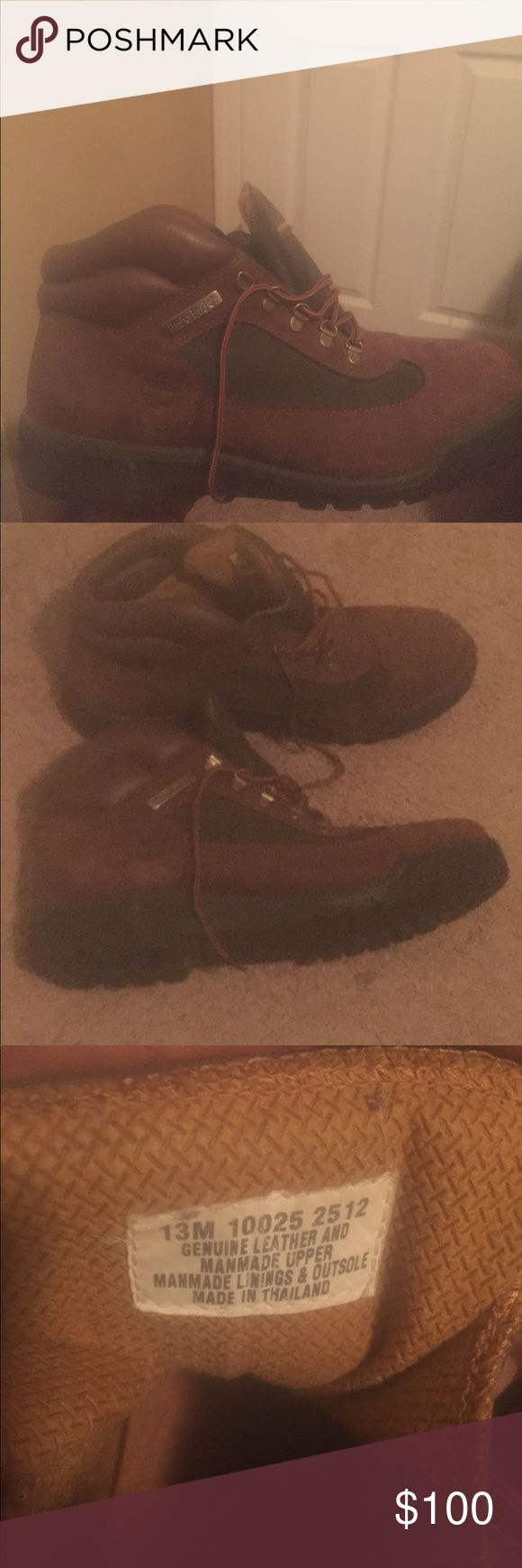 Timberland Field Boots Beef and broccoli Timberland field boots in a size 13. Maybe worn 10 times. 9/10 Timberland Shoes Boots