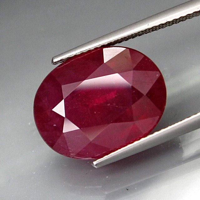 Natural 13.57 Carat Oval Cut Ruby Gemstone From Mozambique by Sophiesfinejewellery on Etsy
