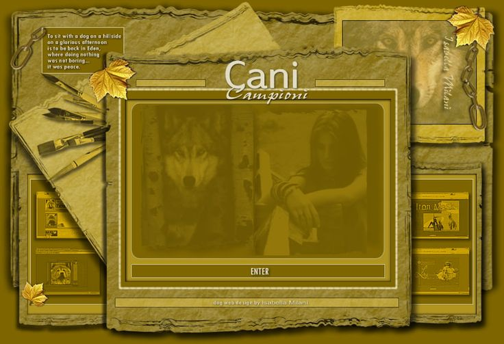 Isabella milani - CANI CAMPIONI - DEW2004 idea originale