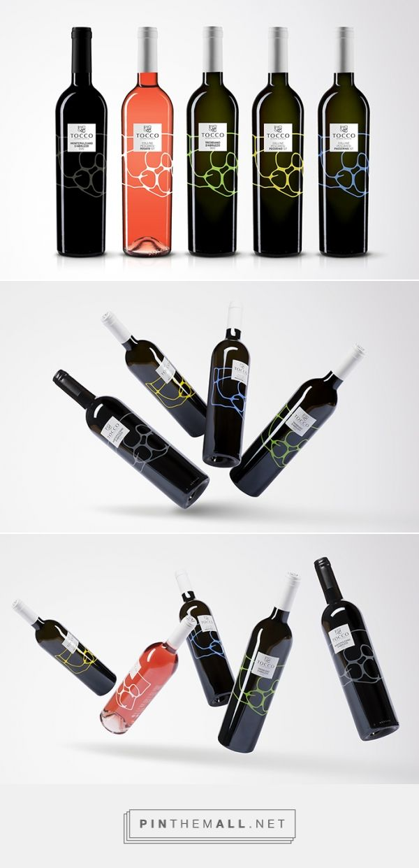 Tocco Wine by Concept Store / Marco D'Aroma. Source: Daily Package Design Inspiration. Pin curated by #SFields99 #packaging #design #inspiration #ideas #wine #alcoholic #beverages #bottle