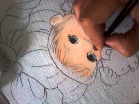 ▶ Part 2 como pintar rosto de bebê (continuação olhos) - YouTube